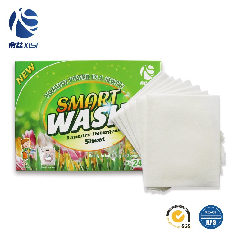 Eco-Friendly condensed laundry clean detergent sheets